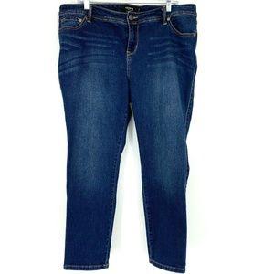 3/20 Torrid Skinny Jeans Denim Dark Wash